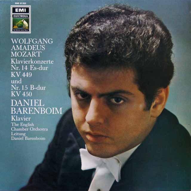 バレンボイムのモーツァルト/ピアノ協奏曲第14&15番 独EMI 3292 LP レコード