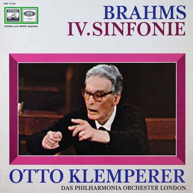 クレンペラーのブラームス/交響曲第4番 独columbia 3292 LP レコード