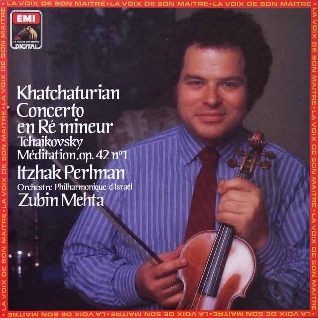 パールマン&メータのハチャトゥリアン/ヴァイオリン協奏曲ほか 仏EMI(VSM) 3292 LP レコード