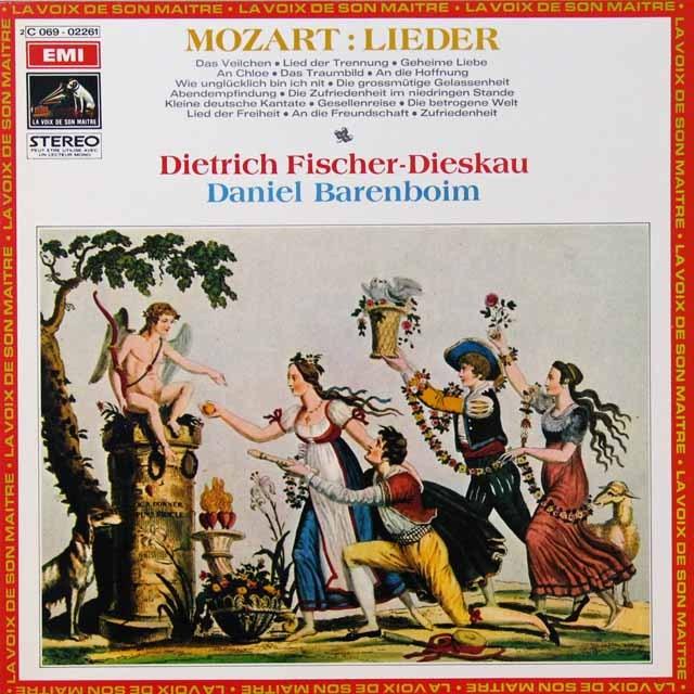 フィッシャー=ディースカウのモーツァルト/歌曲集  仏EMI(VSM) 3292 LP レコード