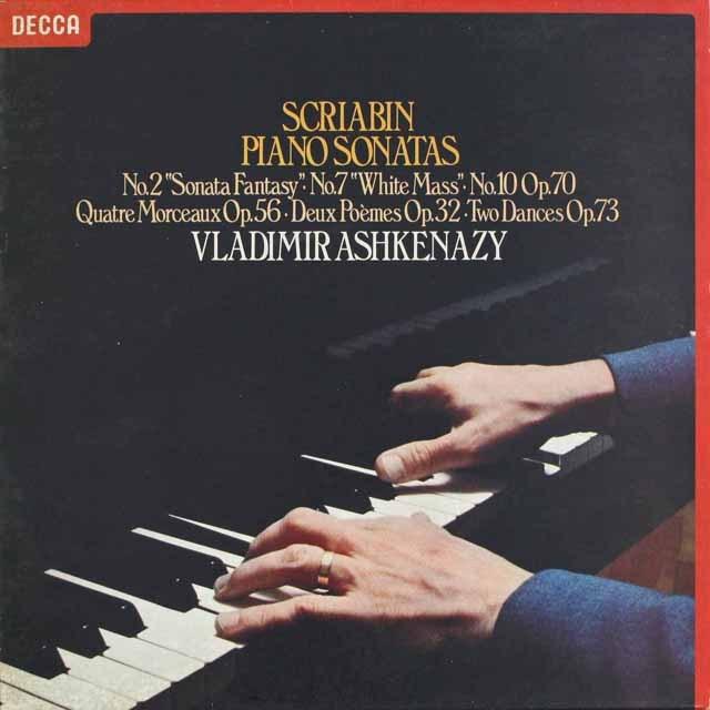 アシュケナージのスクリャービン/ピアノソナタ第2、7&10番ほか 蘭DECCA 3230 LP レコード