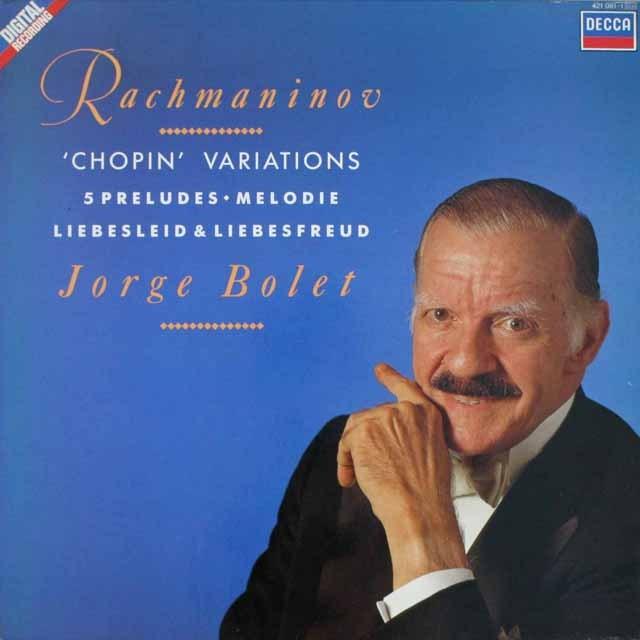 ボレットのラフマニノフ/ショパンの主題による変奏曲ほか 蘭DECCA 3230 LP レコード