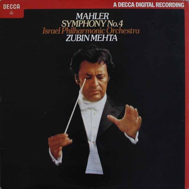 メータのマーラー/交響曲第4番 英DECCA 3230 LP レコード