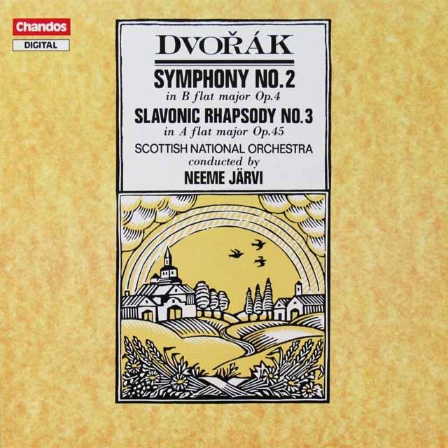 ヤルヴィのドヴォルザーク/交響曲第2番ほか 独CHANDOS 2712 LP レコード