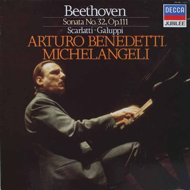 ミケランジェリのベートーヴェン/ピアノソナタ第32番ほか 蘭DECCA 3230 LP レコード