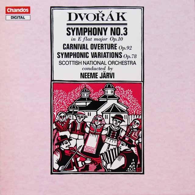 ヤルヴィのドヴォルザーク/交響曲第3番ほか 独CHANDOS 3292 LP レコード