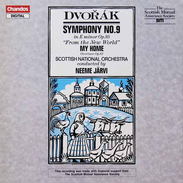 ヤルヴィのドヴォルザーク/交響曲第9番「新世界より」ほか 独CHANDOS 3292 LP レコード
