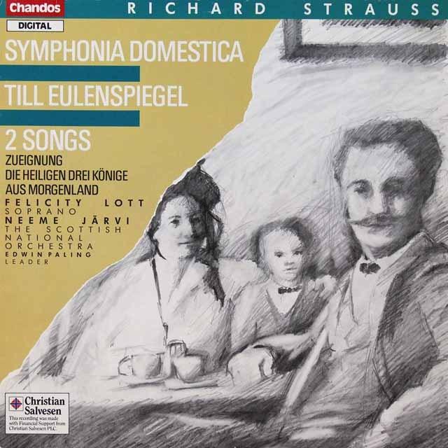 ヤルヴィのR.シュトラウス/「家庭交響曲」ほか 独CHANDOS 3292 LP レコード