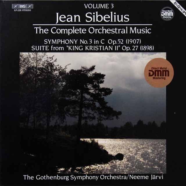 ヤルヴィのシベリウス/交響曲第3番&「クリスティアン二世」から 独BIS 2712 LP レコード