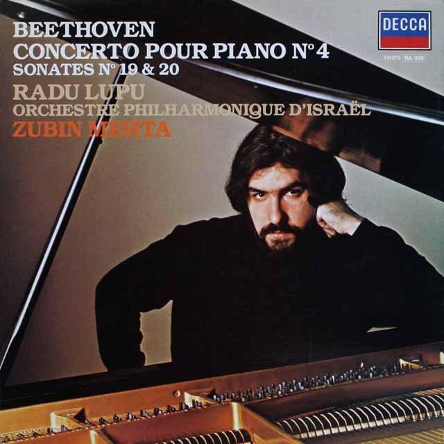 ルプー&メータのベートーヴェン/ピアノ協奏曲第4番 仏DECCA 3230 LP レコード