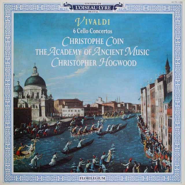 コワン&ホグウッドのヴィヴァルディ/チェロ協奏曲 蘭L'OISEAU-LYRE 2518