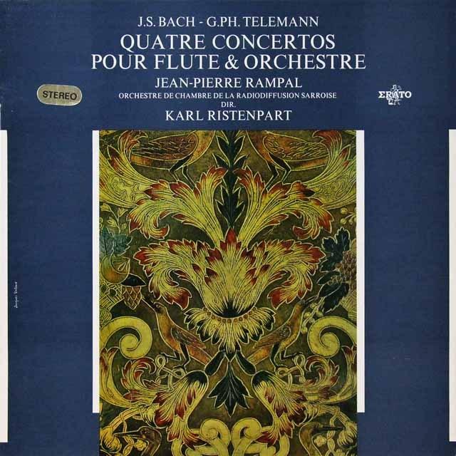 ランパル&リステンパルトのバッハ&テレマン/フルート協奏曲集   仏ERATO   2724 LP レコード