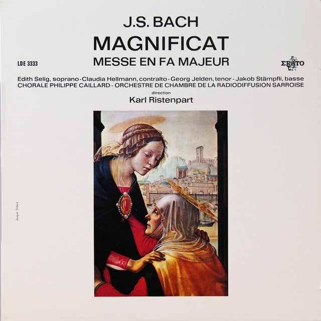 リステンパルトのバッハ/マニフィカトほか   仏ERATO   2724 LP レコード