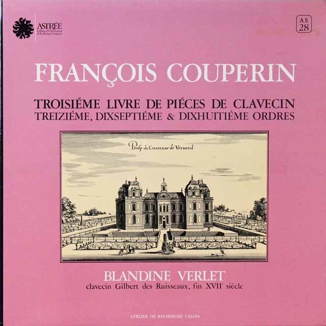 ヴェルレのクープラン/クラヴサン組曲集   仏ASTREE   2724 LP レコード