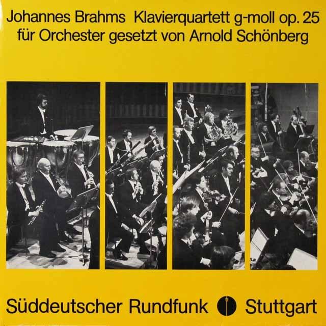 クーン&南西ドイツ放送交響楽団のブラームス/ピアノ四重奏曲(管弦楽編曲版)   独SWR   2724 LP レコード