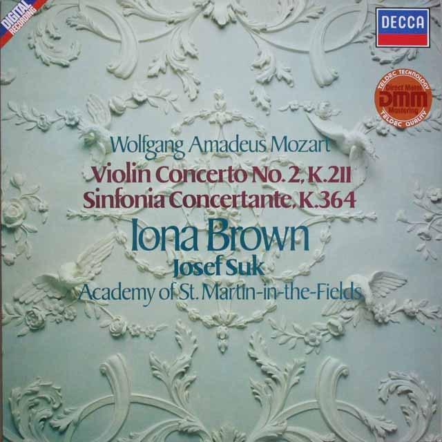 ブラウンのモーツァルト/ヴァイオリン協奏曲第2番ほか 独DECCA 3230 LP レコード