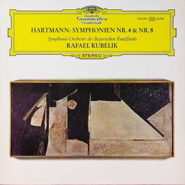 クーベリックのハルトマン/交響曲第4&8番 独DGG 3290 LP レコード