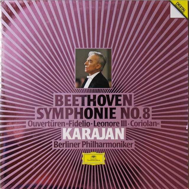カラヤンのベートーヴェン/交響曲第8番ほか   独DGG   2724 LP レコード