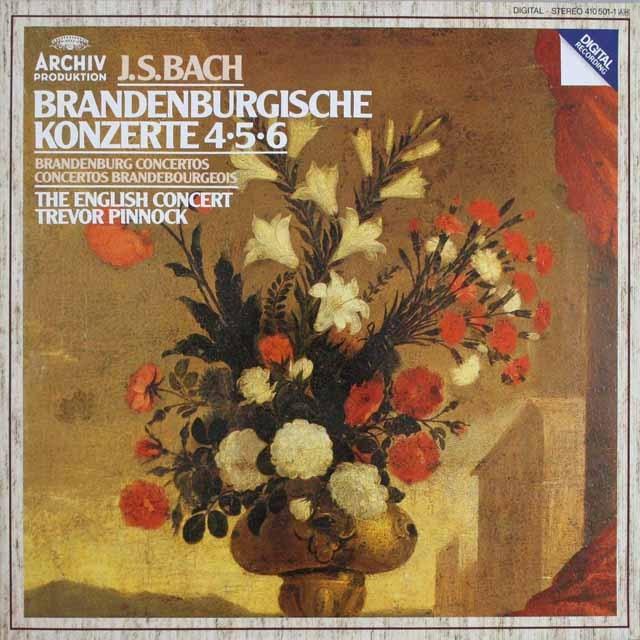 ピノックのバッハ/ブランデンブルク協奏曲第4~6番 独ARCHIV 3230 LP レコード