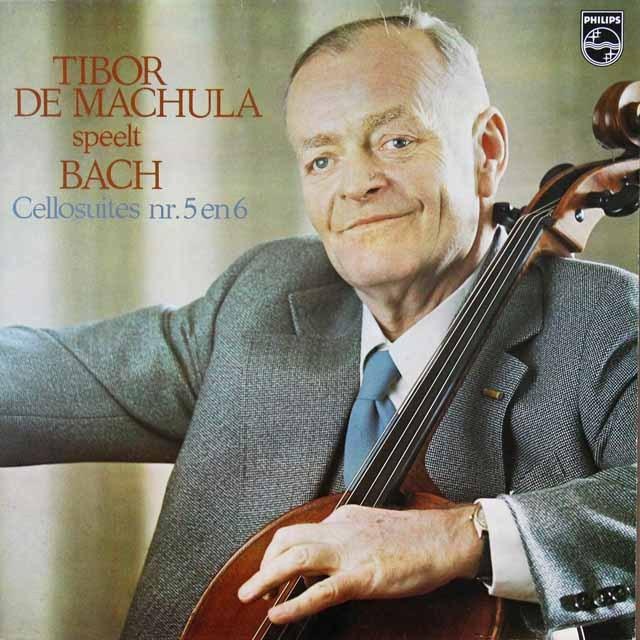 マヒューラのバッハ/無伴奏チェロ組曲第5&6番  蘭PHILIPS   2724 LP レコード