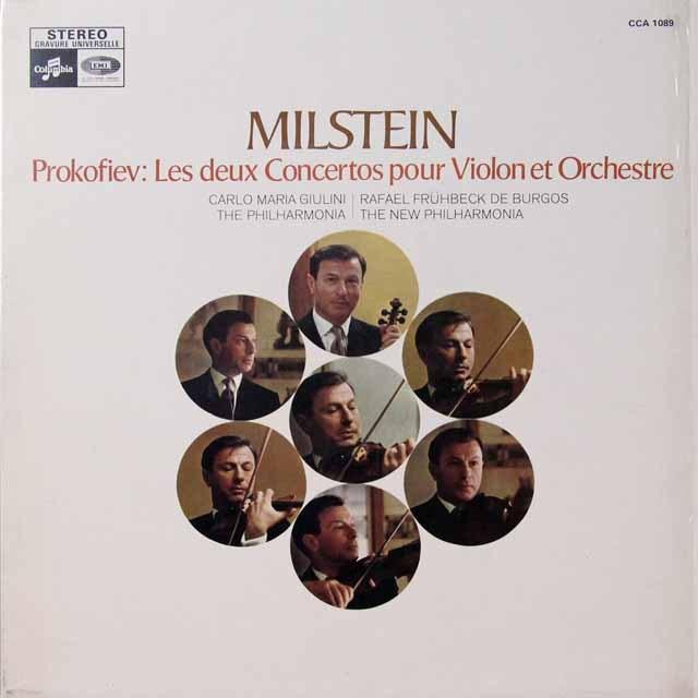 ミルシュタイン&ジュリーニほかプロコフィエフ/ヴァイオリン協奏曲第1&2番  仏Columbia  2724 LP レコード