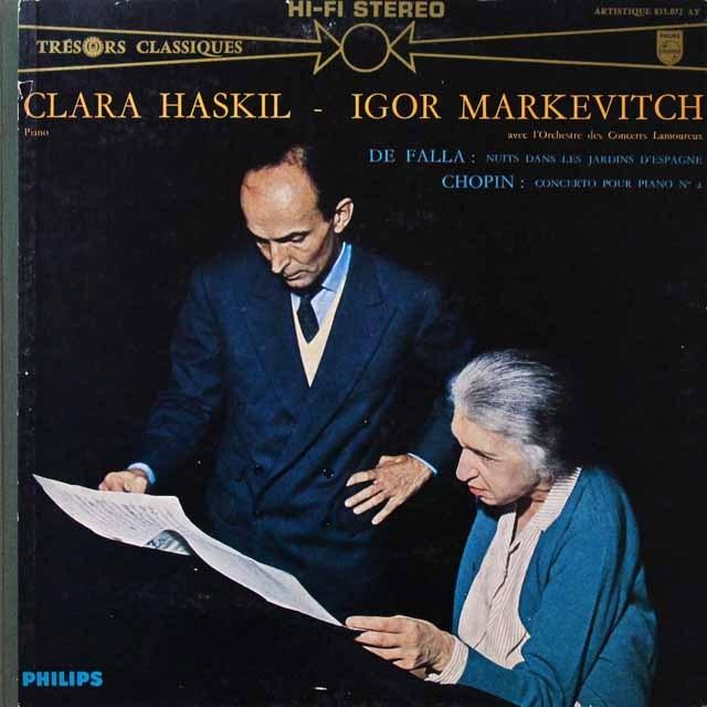 ハスキル&マルケヴィチのショパン/ピアノ協奏曲ほか  仏PHILIPS  2724 LP レコード