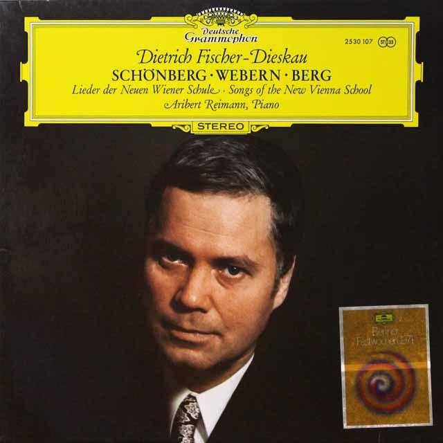 フィッシャー=ディースカウ/新ウィーン楽派歌曲集 独DGG 3224 LP レコード