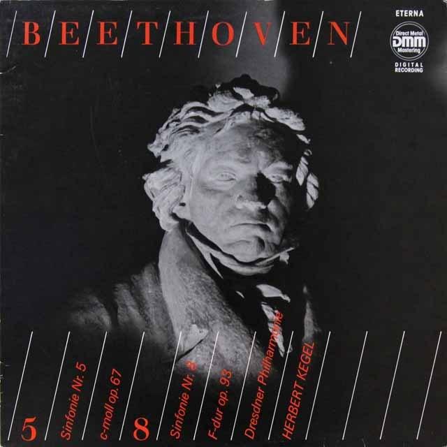 ケーゲルのベートーヴェン/交響曲第5&8番  独ETERNA   2721 LP レコード
