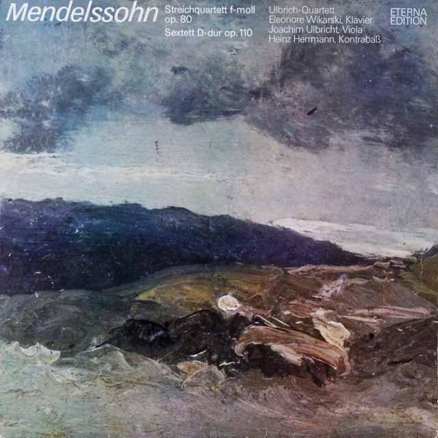ウルブリヒ四重奏団のメンデルスゾーン/弦楽四重奏曲第6番ほか  独ETERNA   2721 LP レコード