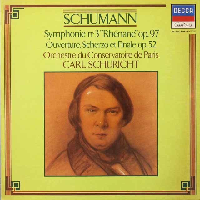 シューリヒトのシューマン/交響曲第3番「ライン」ほか 仏DECCA   2716 LP レコード