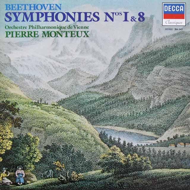 モントゥーのベートーヴェン/交響曲第1&8番 仏DECCA 3291 LP レコード