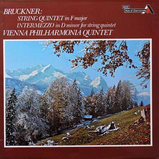 ウィーン・フィル五重奏団のブルックナー/弦楽五重奏曲 英DECCA(Ace of Diamonds)  3291 LP レコード
