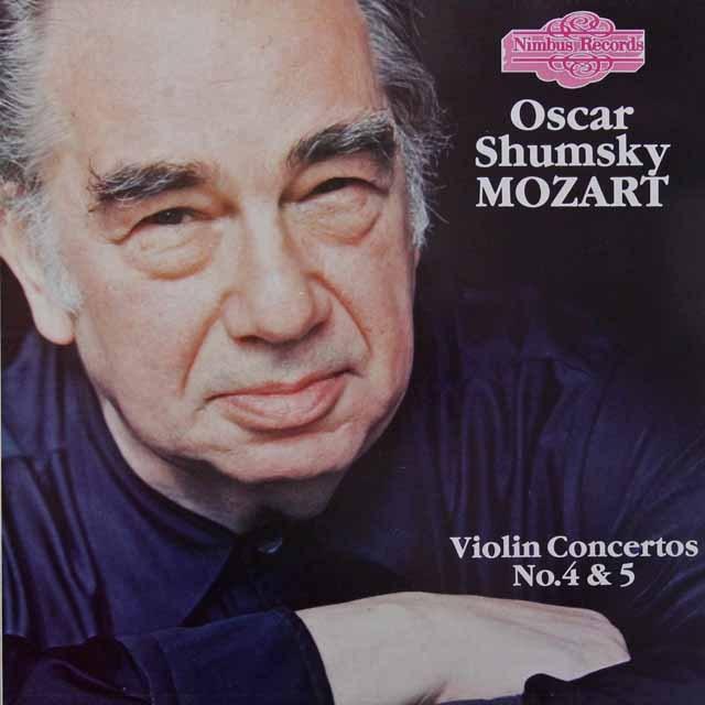 シュムスキー&トルトゥリエのモーツァルト/ヴァイオリン協奏曲第4&5番 英Nimbus Records 2716 LP レコード