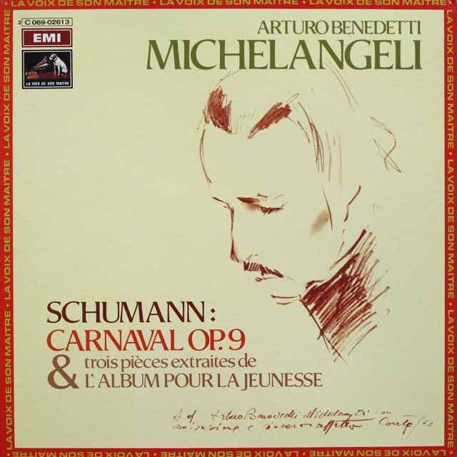 ミケランジェリのシューマン/謝肉祭  仏EMI(VSM)  2523 LP レコード