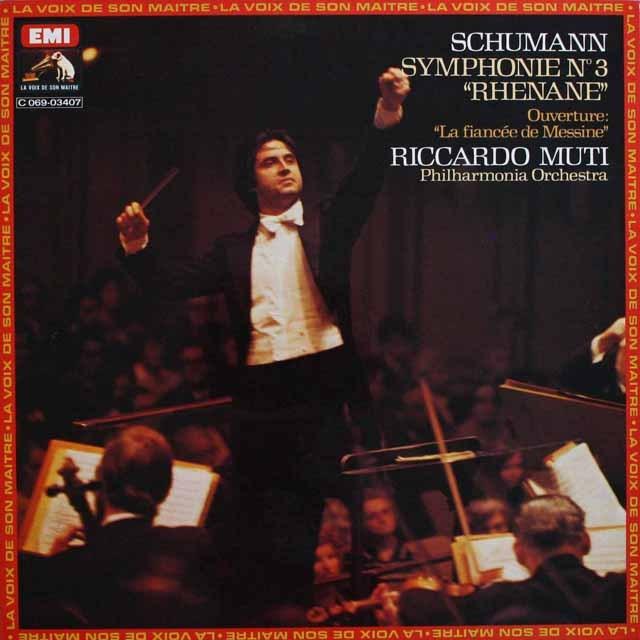 ムーティのシューマン/交響曲第3番「ライン」 仏EMI(VSM) 3232 LP レコード