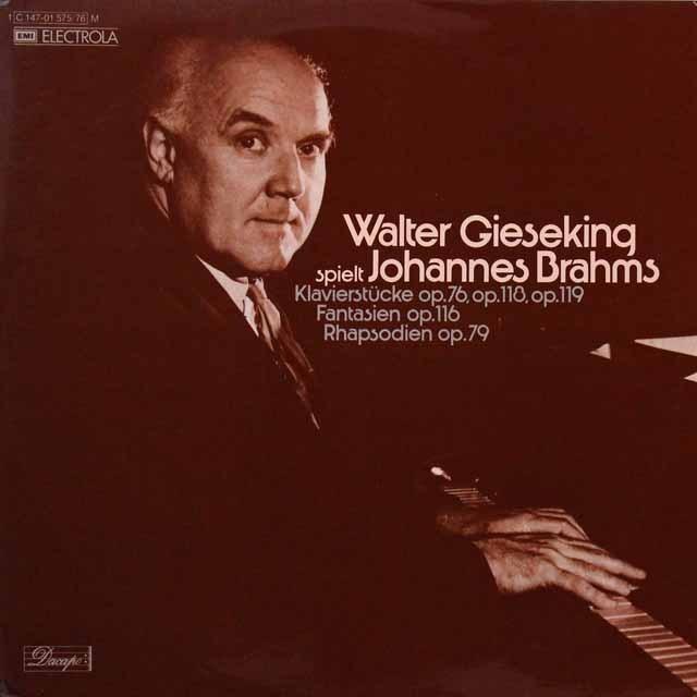 ギーゼキングのブラームス/8つの小品ほか 独EMI 3291 LP レコード