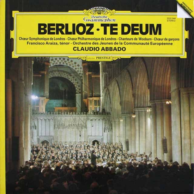 アバドのベルリオーズ/「テ・デウム」 独DGG 3232 LP レコード