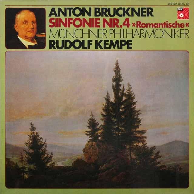 ケンペのブルックナー/交響曲第4番「ロマンティック」  独BASF   2716 LP レコード