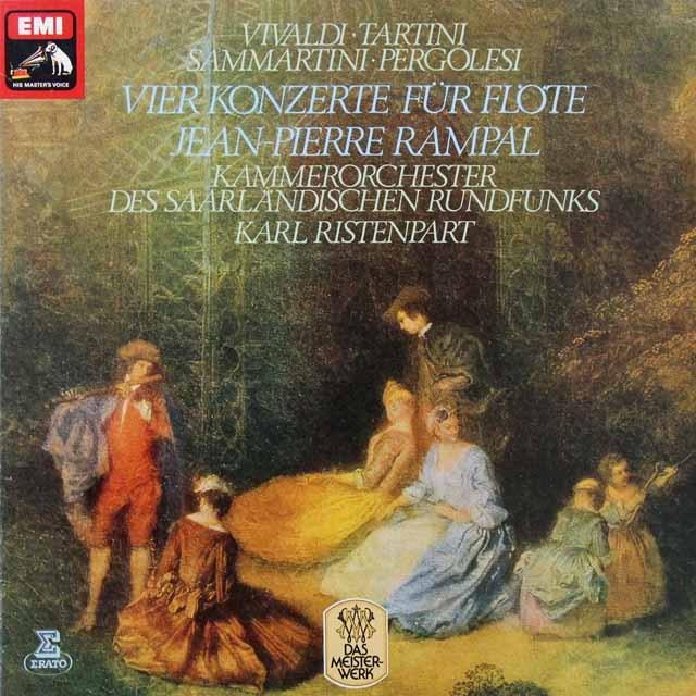 ランパル&リステンパルト/イタリアの4つのフルート協奏曲集 独EMI 2717 LP レコード