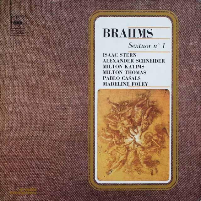 カザルスらのブラームス/弦楽六重奏曲第1番  仏CBS  2523 LP レコード