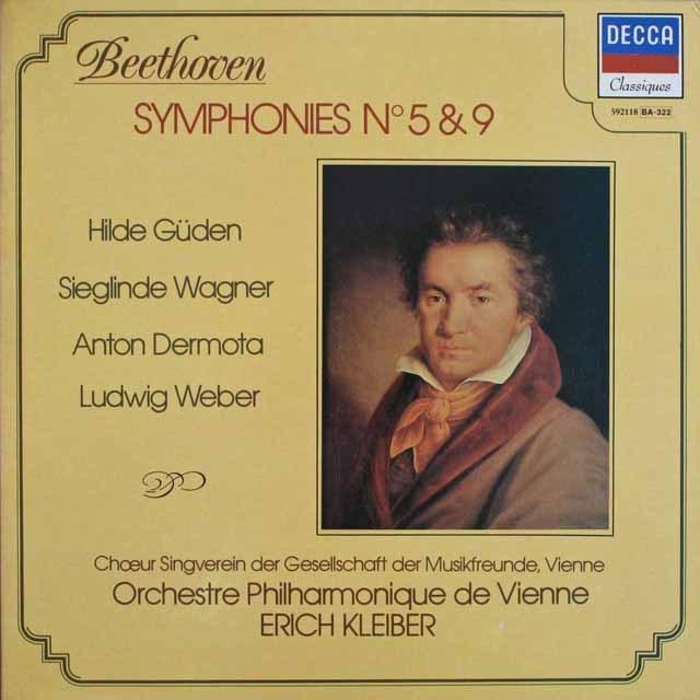 クライバーのベートーヴェン/交響曲第5&9番  仏DECCA    2524 LP レコード
