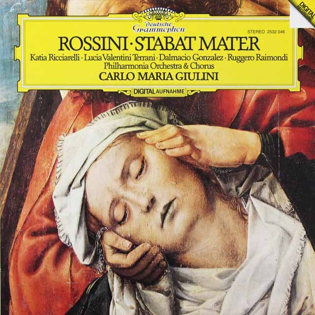 ジュリーニのロッシーニ/「スターバト・マーテル」 独DGG 3291 LP レコード