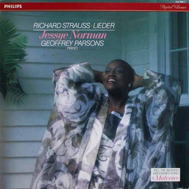 ノーマンのR.シュトラウス/歌曲「マルヴェン」ほか  蘭PHILIPS 3301 LP レコード