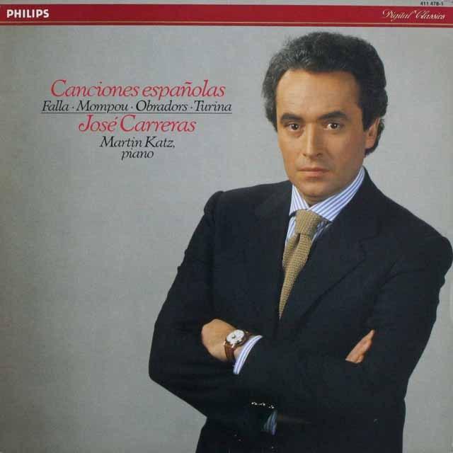カレーラスのスペイン歌曲集  蘭PHILIPS   2524 LP レコード
