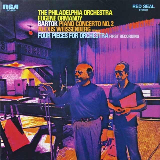 ワイセンベルク&オーマンディのバルトーク/ピアノ協奏曲第2番 独RCA 3291 LP レコード