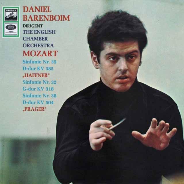 バレンボイムのモーツァルト/交響曲「ハフナー」&「プラハ」 独EMI 3301 LP レコード