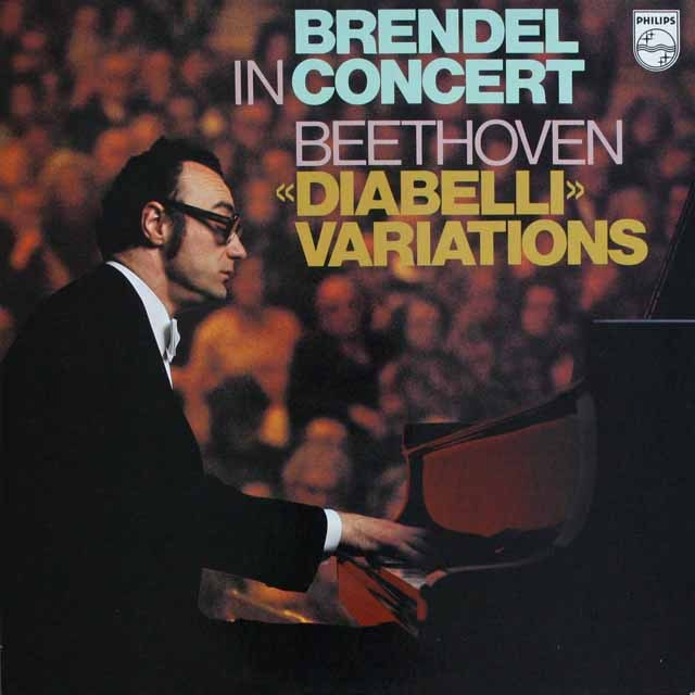 ブレンデルのベートーヴェン/「ディアベルリ変奏曲」   英PHILIPS   2526 LP レコード