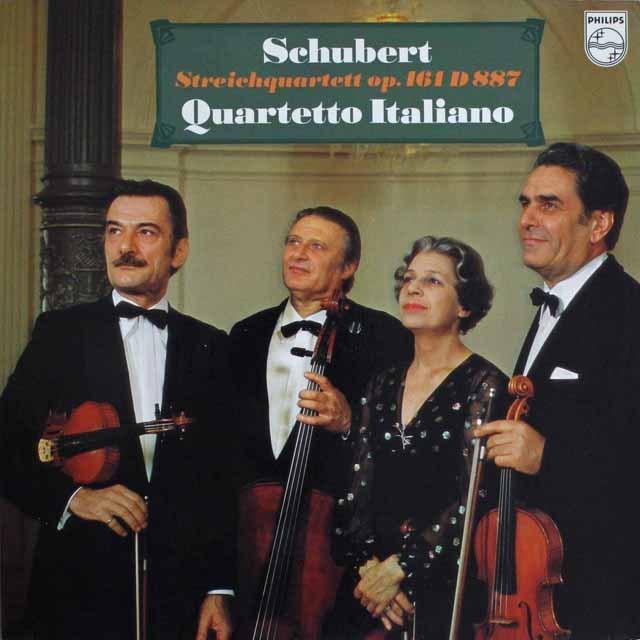 イタリア四重奏団のシューベルト/弦楽四重奏曲第15番   蘭PHILIPS   2526 LP レコード