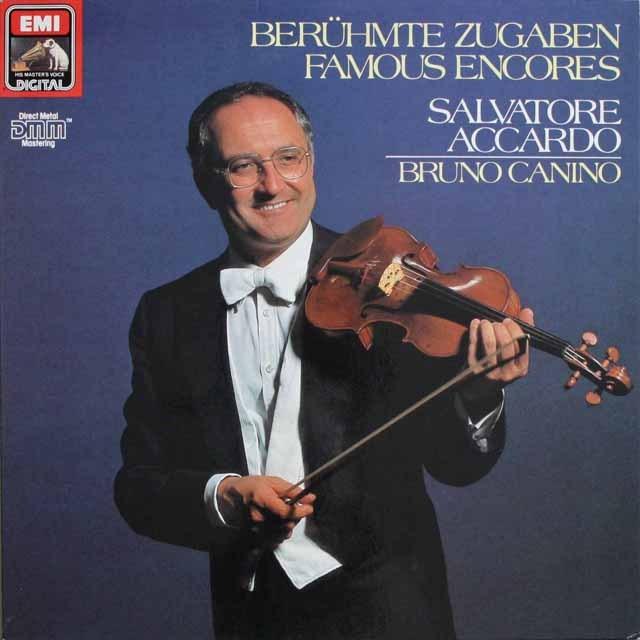 アッカルドの「ヴァイオリン小品集」 独EMI 3303 LP レコード