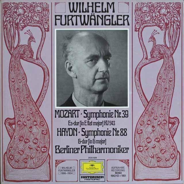 フルトヴェングラーのハイドン/交響曲第88番ほか 独DGG 3303 LP レコード